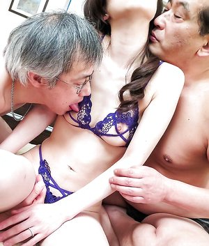 Misaki Yoshimura Asian has fish taco eaten and drilled in 3some
