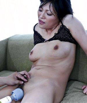 Ryo Sasaki Asian is fucked with fingers and sucks hard phallus
