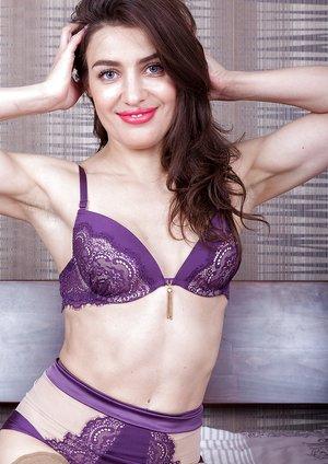 Julia Red strips naked in her bedroom
