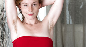 Ana Molly strips naked all dressed in red