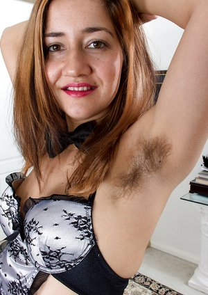 Isabel is a hard working hairy girl maid
